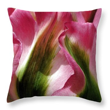 Tulip Throw Pillow by  Andrea Lazar