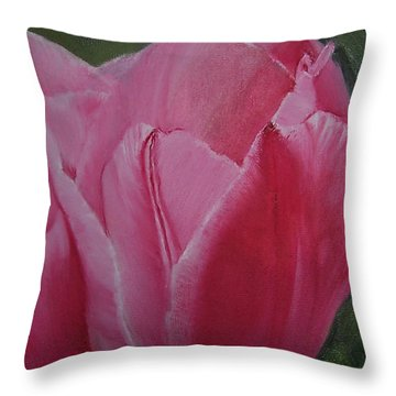 Tulip Blooming Throw Pillow