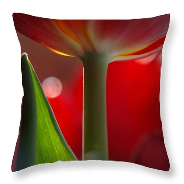 Tulip Bokeh Throw Pillow