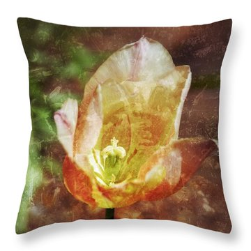 Throw Pillow featuring the photograph Tulip by Darla Wood
