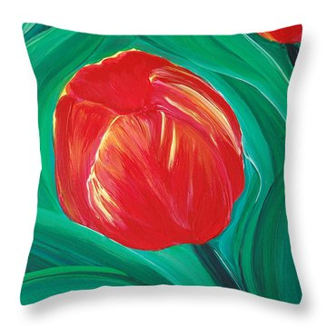 Tulip Diva By Jrr Throw Pillow by First Star Art