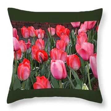 Tulip Flower Art05 Throw Pillow