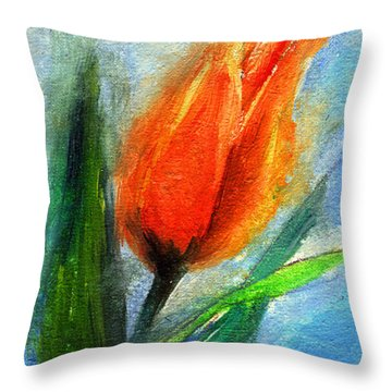Tulip - Flower For You Throw Pillow