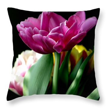 Tulip For Easter Throw Pillow