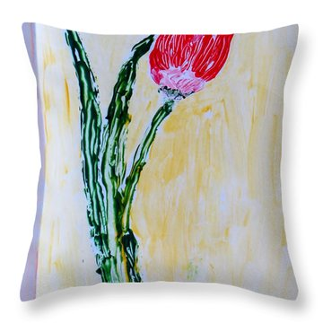 Tulip For You Throw Pillow by Sonali Gangane