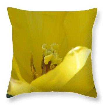 Tulip Heart Throw Pillow by Maria Urso