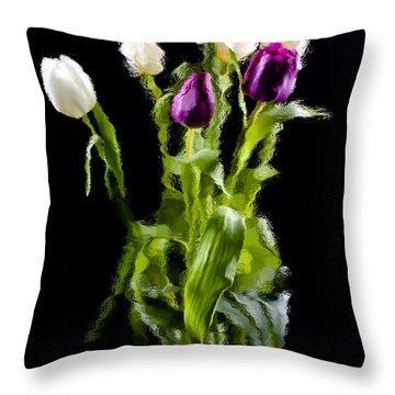 Throw Pillow featuring the photograph Tulip Impressions II by Penny Lisowski