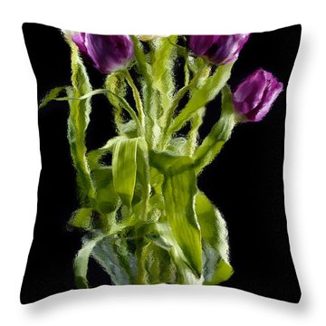 Throw Pillow featuring the photograph Tulip Impressions IIi by Penny Lisowski