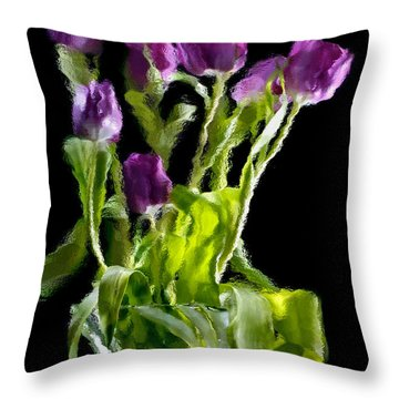 Throw Pillow featuring the photograph Tulip Impressions Vi by Penny Lisowski
