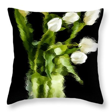 Tulip Impressions Vii Throw Pillow