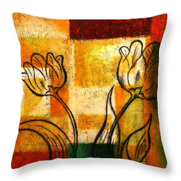 Tulip Throw Pillow by Leon Zernitsky