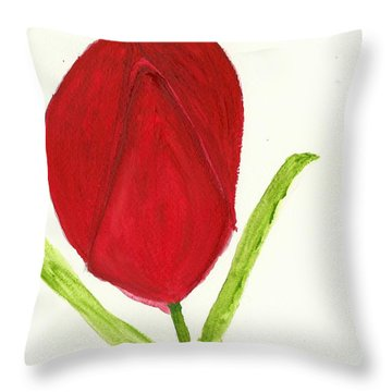 Tulip Of The Heart Throw Pillow