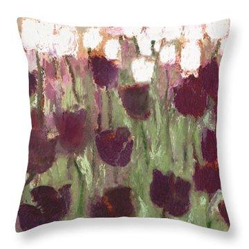 Tulip Riot Il Throw Pillow