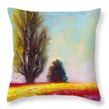 Tulip Sentinels Throw Pillow