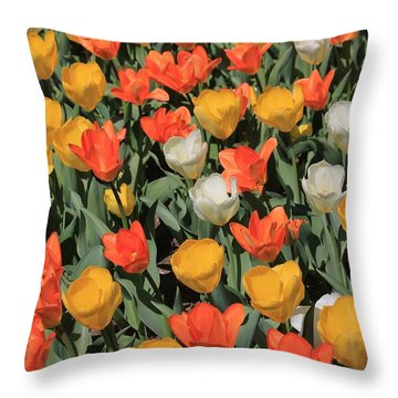 Tulip Stretch Throw Pillow