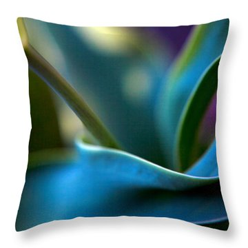Tulip Unexpected Throw Pillow by Theresa Tahara