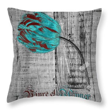 Tulip - Vivre Et Aimer S12ab4t Throw Pillow by Variance Collections