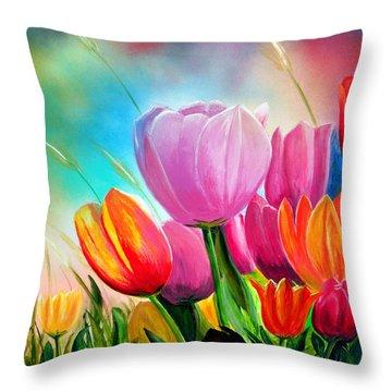 Tulipa Festivity Throw Pillow