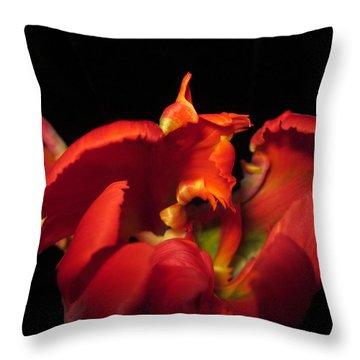 Tulipmelancholy Throw Pillow