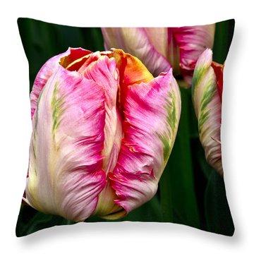 Tulips 02 Throw Pillow