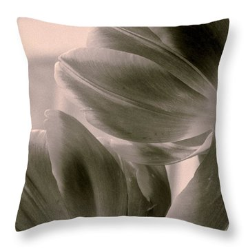 Tulips 2 Light Space Time  Botanicals Art Exhibition 2014  Special Merit Award Throw Pillow