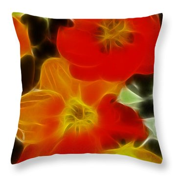 Tulips-6681-fractal Throw Pillow by Gary Gingrich Galleries