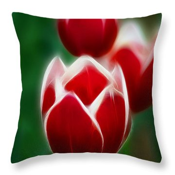 Tulips-6835-fractal Throw Pillow by Gary Gingrich Galleries