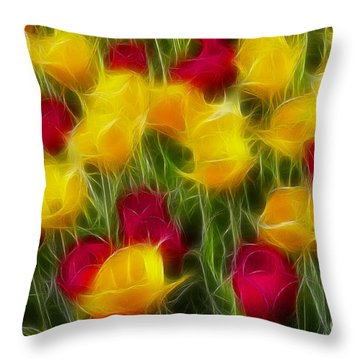 Tulips-7106-fractal Throw Pillow by Gary Gingrich Galleries