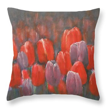 Tulips Blossom 2 Throw Pillow