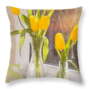 Tulips Throw Pillow by Amanda Elwell