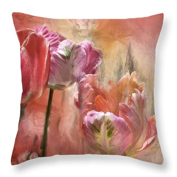 Tulips - Colors Of Love Throw Pillow