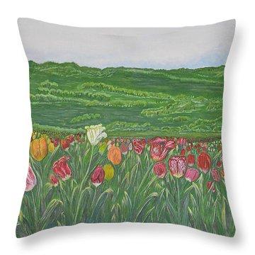 Tulips Dream Throw Pillow