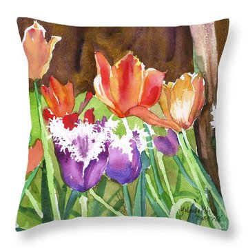 Tulips In Spring Throw Pillow