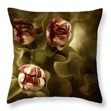Tulips In The Mist II Throw Pillow