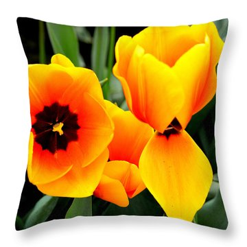 Tulips... Throw Pillow