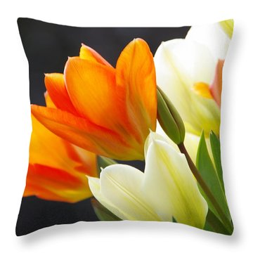 Throw Pillow featuring the photograph Tulips by Marilyn Wilson