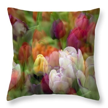 Throw Pillow featuring the photograph Tulips by Penny Lisowski