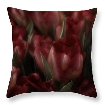 Tulips Romantic Throw Pillow by Richard Cummings