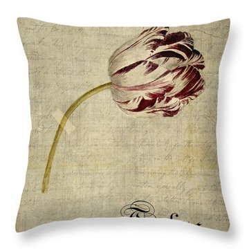 Tulips - S01bt2t Throw Pillow by Variance Collections