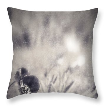 Tulips Throw Pillow by Silvia Ganora