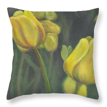 'tulips Stand' Throw Pillow