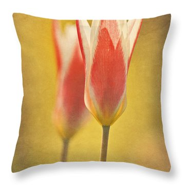 Tulips Together  Throw Pillow