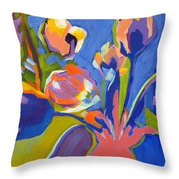 Tulip Variations  Throw Pillow
