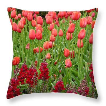 Tulips Throw Pillow by Yue Wang