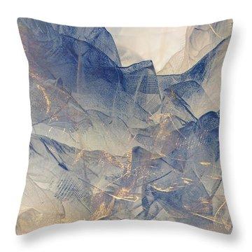 Tulle Mountains Throw Pillow
