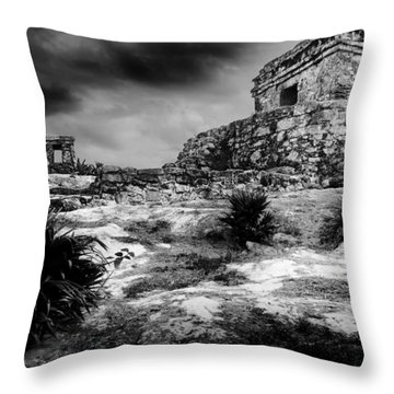 Tulum Ruin Throw Pillow