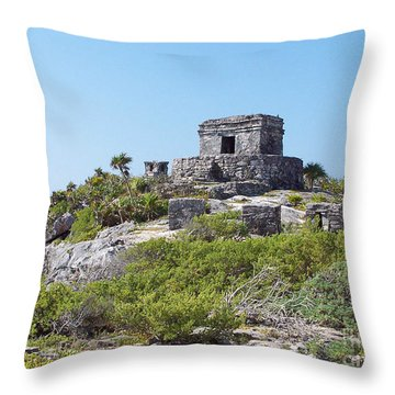 Tulum Ruins Of Mexico - 1 Throw Pillow