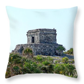 Tulum Ruins Of Mexico - 2 Throw Pillow