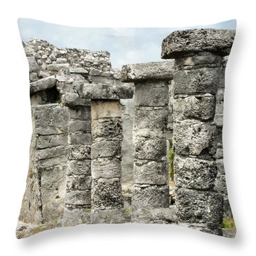 Tulum Throw Pillow by Silvia Bruno