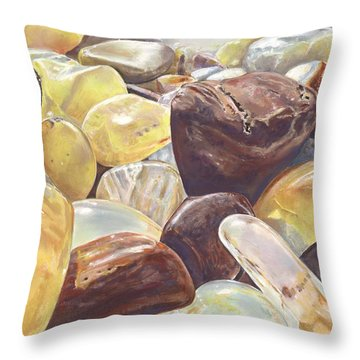 Tumbled Agates Throw Pillow